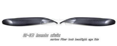 OptionRacing - Honda Civic Option Racing Headlight Eyelids - 49-20108
