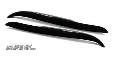 OptionRacing - Honda Civic Option Racing Headlight Eyelids - 49-20109
