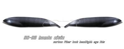 OptionRacing - Honda Civic Option Racing Headlight Eyelids - 49-20111