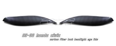 OptionRacing - Honda Civic Option Racing Headlight Eyelids - 49-20113