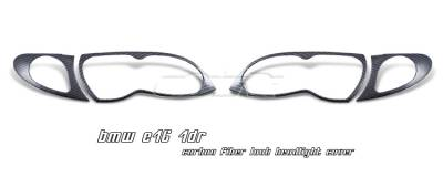 OptionRacing - BMW 3 Series Option Racing Headlight Cover - 73-12102