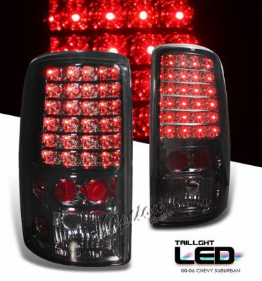 OptionRacing - Chevrolet Suburban Option Racing LED Taillights - Smoke Full LED Version - 75-19248