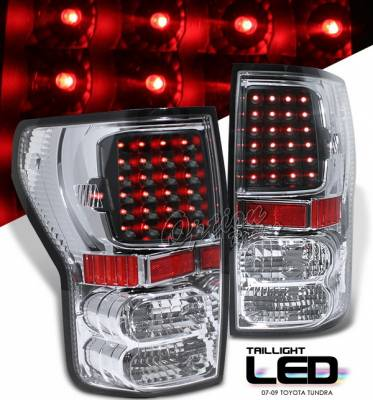 OptionRacing - Toyota Tundra Option Racing LED Taillights - Black - 75-44330