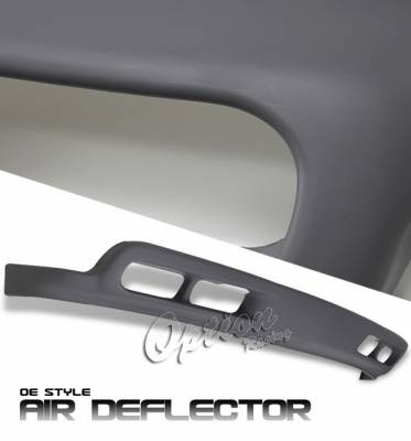 OptionRacing - Chevrolet Silverado Option Racing Bumper Cover - OEM Style Lower Bumper Air Deflector without Fog Light Hole - 80-15128