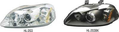 Pilot - Honda Civic Pilot Chrome Projector Headlight - Pair - HL-203