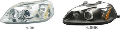 Pilot - Honda Civic Pilot Chrome Projector Headlight - Pair - HL-204