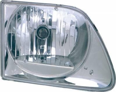 Pilot - Ford F250 Pilot Chrome Headlight - Pair - HL-501MR