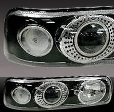 Pilot - Chevrolet Silverado Pilot Black Projector Headlight - Pair - HL-603BP