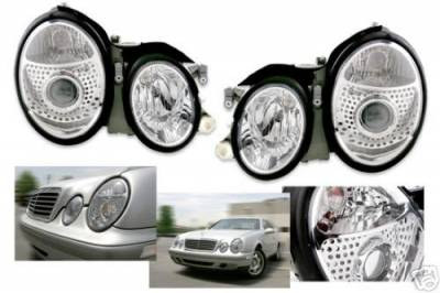 Pro - CLK 98-02 Clear Headlights Pair