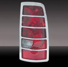Pilot - Chevrolet Silverado Pilot Chrome ABS Taillight Cover - Pair - SDL-102