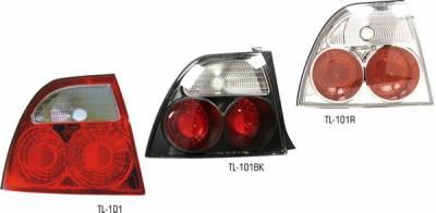 Pilot - Honda Accord 2DR & 4DR Pilot Chrome Taillight - Pair - TL-101