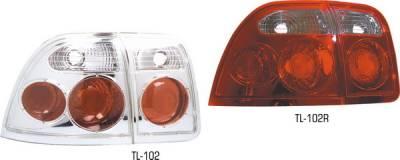Pilot - Honda Accord 2DR & 4DR Pilot Red Taillight - Set - TL-102R