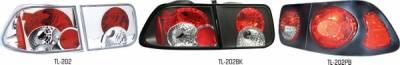 Pilot - Honda Civic 2DR Pilot Chrome Taillight - Set - TL-202