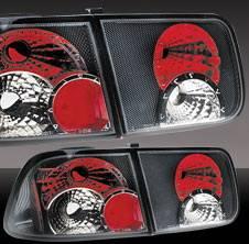 Pilot - Honda Civic 2DR Pilot Carbon Fiber Look Taillight - Set - TL-202CF
