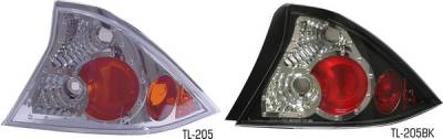 Pilot - Honda Civic 2DR Pilot Chrome Taillight - Pair - TL-205