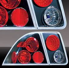 Pilot - Honda Civic 4DR Pilot Black Taillight - Set - TL-206BK