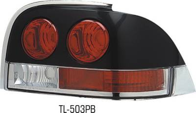 Pilot - Ford Mustang Pilot Carbon Fiber Look Taillight - Paintable Bezel - Pair - TL-503PB