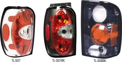 Pilot - Ford Explorer Pilot Chrome Taillight - Pair - TL-507
