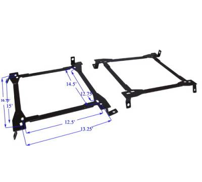 Megan Racing - Nissan 240SX Megan Racing Seat Brackets - SBT-NS13