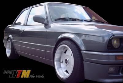 DTM Fiberwerkz - BMW 3 Series DTM Fiberwerkz Mtech II Style Side Skirts with Door Panels - E30-MTECH-II