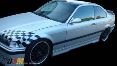 DTM Fiberwerkz - BMW 3 Series DTM Fiberwerkz HM Style Side Skirts - E36-HM-STYLE