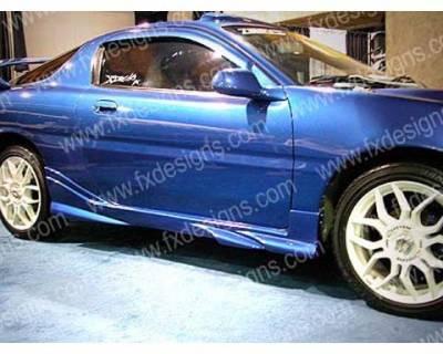 FX Design - Mazda MX3 FX Design Side Skirts - FX-1002
