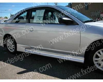 FX Designs - Honda Civic FX Design Type R Style Side Skirts - FX-2007