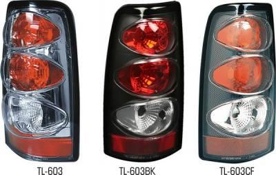 Pilot - Chevrolet Silverado Pilot Chrome Taillight - Pair - TL-603