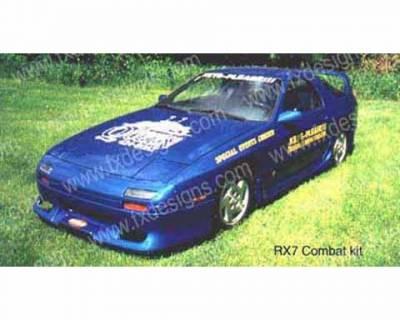 FX Designs - Mazda RX-7 FX Design Combat Style Side Skirts - FX-709