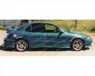 FX Designs - Chevrolet Cavalier FX Design VS Style Side Skirts - FX-744