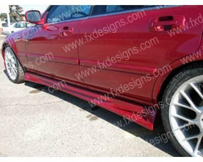 FX Designs - Honda Accord FX Design Xtreme Style Side Skirts - FX-758