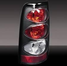Pilot - Chevrolet Silverado Pilot Black Taillight - Pair - TL-608BK