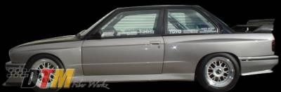 DTM Fiberwerkz - BMW 3 Series DTM Fiberwerkz M3 Evo Style Side Skirts - E30 M3 Evo S