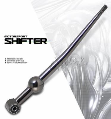 OptionRacing - Honda Civic Option Racing Short Shifter - Black Chrome - 62-20104