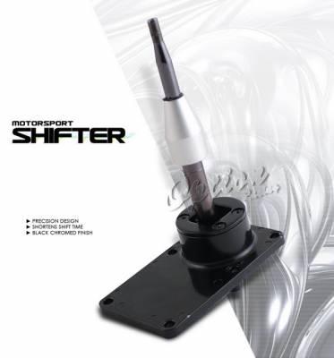 OptionRacing - Nissan 240SX Option Racing Short Shifter - Black Chrome - 62-36118