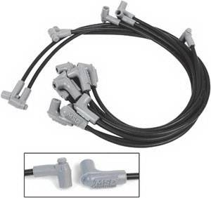 MSD - Chevrolet Corvette MSD Ignition Wire Set - Black Super Conductor - 31453