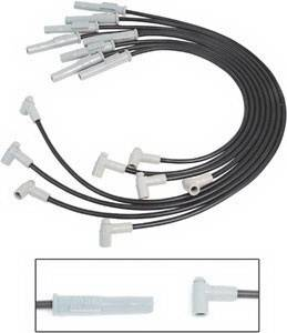 MSD - Chevrolet MSD Ignition Wire Set - Black Super Conductor - HEI - 31773