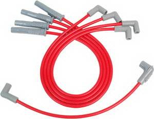 MSD - GM MSD Ignition Wire Set - Red Super Conductor - 32079