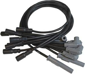 MSD - Chevrolet Corvette MSD Ignition Wire Set - Black Super Conductor - 32173