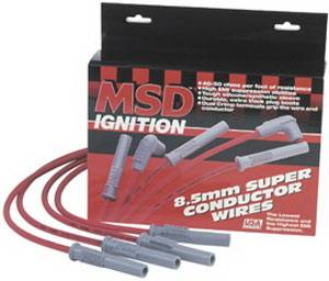 MSD - Chevrolet MSD Ignition Wire Set - Black Super Conductor - HEI - 35593