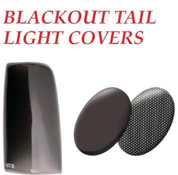 GT Styling - Dodge Daytona GT Styling Blackout Taillight Covers