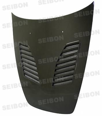 Seibon - Honda S2000 Seibon CW Style Carbon Fiber Hood - HD0005HDS2K-CW