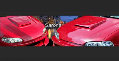 Sarona - Honda Civic Sarona Hood Scoop - HD-001-HS