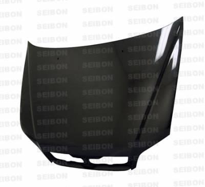 Seibon - Mitsubishi Lancer Seibon OEM Style Carbon Fiber Hood - HD0203MITLAN-OE