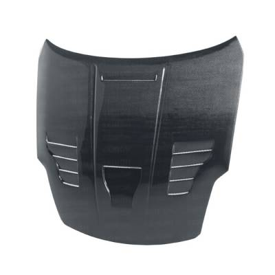 Seibon - Nissan 350Z Seibon VT Style Carbon Fiber Hood - HD0205NS350-VT