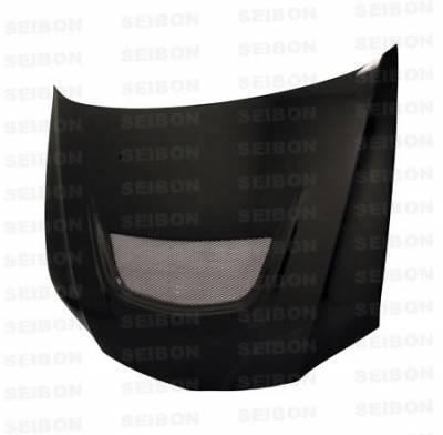 Seibon - Mitsubishi Evolution 8 Seibon OEM Style Carbon Fiber Hood - HD0305MITEVO8-OE
