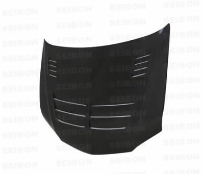 Seibon - Mitsubishi Evolution 8 Seibon TS Style Carbon Fiber Hood - HD0305MITEVO8-TS