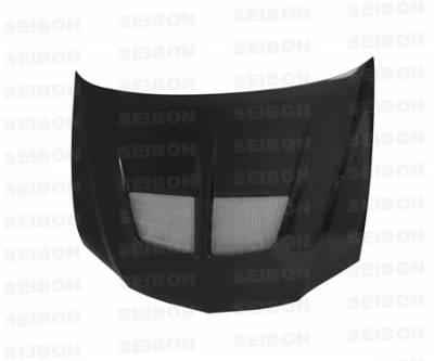 Seibon - Mitsubishi Lancer Seibon TV Style Carbon Fiber Hood - HD0305MITEVO8-TV