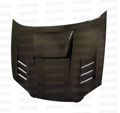 Seibon - Subaru Impreza Seibon CWII Style Carbon Fiber Hood - HD0405SBIMP-CWII