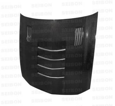 Seibon - Ford Mustang Seibon SSII Style Carbon Fiber Hood - HD0506FDMU-SSII